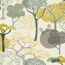 Rasch Amazing 539943 Natur Purista lényegre redukált absztrakt fák /japán design/ fehér szürke sárga zöld tapéta