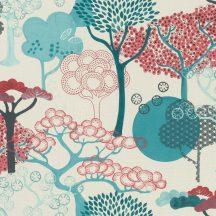 Rasch Amazing 539950 Natur Purista lényegre redukált absztrakt fák /japán design/ fehér vízkék zöld vörös tapéta