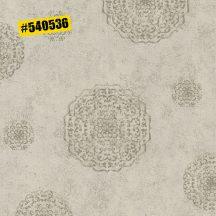 Rasch #ROCKENROLLE 540536 Neoklasszikus Vintage barokk mintázat meleg szürkésbézs ezüst fémes hatás tapéta