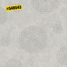 Rasch #ROCKENROLLE 540543  Neoklasszikus Vintage barokk mintázat világos szürke ezüst fémes hatás tapéta