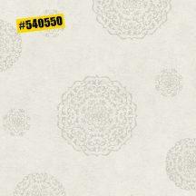 Rasch #ROCKENROLLE 540550  Neoklasszikus Vintage barokk mintázat törtfehér ezüst fémes hatás tapéta