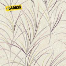 Rasch #ROCKENROLLE 540635 Natur fűmintázat fehér karamell arany rózsaszín és padlizsánlila árnyalatok enyhe fémes csillogás tapéta