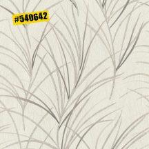 Rasch #ROCKENROLLE 540642  Natur fűmintázat fehér krémszín rózsaszín padlizsán ezüst enyhe fémes csillogás tapéta