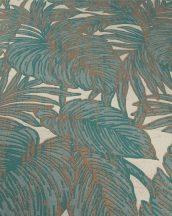 Eriemann Hacienda 5410-19 trópusi dzsungel levelek bézs türkiz rézszín tapéta