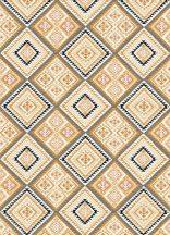 Eriemann Hacienda 5411-03 azték minta sárga szürke fehér fekete tapéta