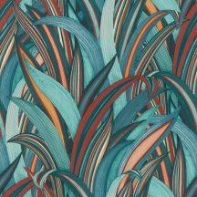 Rasch Amazing 541250 Natur Botanikus Stilizált illatos sárkányfa levélzete vízkéktől a vörösig japán kéktől a mély sárgáig szines tapéta