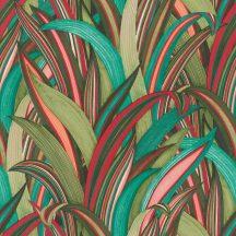 Rasch Amazing 541267 Natur Botanikus Stilizált illatos sárkányfa levélzete türkiztől a vörösig zöldtől a rózsaszínig szines tapéta