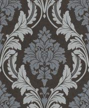 Rasch GLAM 541663 Neoklasszikus barokk virágdíszítés antracit ezüstszürke világos szürke csillámló mintázat tapéta