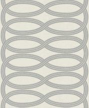Rasch GLAM 541724 Design Retro vízszintes lendületes hullámminta krémfehér világos ezüstszürke csillámló mintázat tapéta