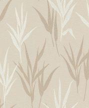 Rasch GLAM 541915 Natur Stilizált fűminta bézs fehér arany csillogó mintázat tapéta