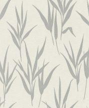 Rasch GLAM 541922 Natur Stilizált fűminta krémfehér ezüstszürke csillogó mintázat tapéta