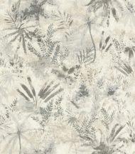 Rasch Poetry II 543018 Natur Organikus textil pálma páfrány bokor világos szürke szürke árnyalatok tapéta