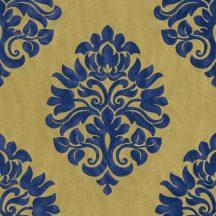Rasch En Suite 545722 klasszikus nagyformátumú barokk díszítőminta aranysárga kék tapéta