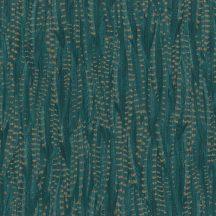 Rasch Highlands 550245  Natur fácántoll mintázat sötét petrolzöld arany tapéta
