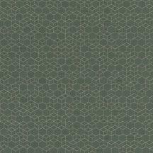 Rasch Highlands 550351  Geometrkius kockák láncolata olívzöld csillogó ezüst tapéta