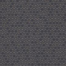 Highlands 550375  Geometrkius kockák láncolata sötétbarna szürkésbarna csillogó arany tapéta