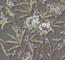 Erismann Delia 5814-21 Virágos díszítőminta finom metszés pasztel orgona fémes bézs lila tapéta