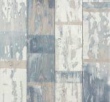 Rasch Make a Change 587128 natur famintázat  deszkaminta bézs szürke kék tapéta