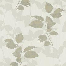 Erismann Ambiance 5906-37 Natur levélmintázat fehér szürke zöldesszürke tapéta