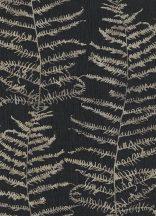 Erismann Central Park 5953-15  Natur ágak levelek fekete ezüst tapéta