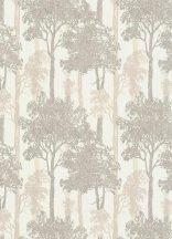 Erismann Countryside 5965-11 Natur természeti motívum fák-liget krémfehér világos szürke barna tapéta