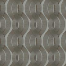 """Marburg Colani Legend 59804  geometrikus """"láncfonat"""" minta szürke szürkésbarna ezüst antracit fémes hatás tapéta"""