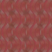 """Marburg Colani Legend 59805  geometrikus """"láncfonat"""" minta vörös vörösesbarna arany fémes hatás tapéta"""