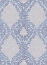 Erismann Secrets 5990-08 Klasszikus barokk díszítőminta szürkésbézs kék barna finom fény tapéta
