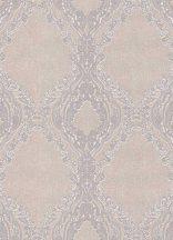 Erismann Secrets 5990-09 Klasszikus barokk díszítőminta bézs lila ezüst finom fény tapéta