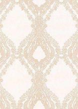 Erismann Secrets 5990-14 Klasszikus barokk díszítőminta krémfrhér bézs finom fény csillogó hatás tapéta
