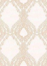 Erismann Secrets 5990-14 Klasszikus barokk díszítőminta krémfehér bézs finom fény csillogó hatás tapéta