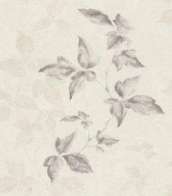 Rasch Lucera 608823  Natur hullámzó levélminta krém szürke halvány lila csillogó fémes ezüst tapéta