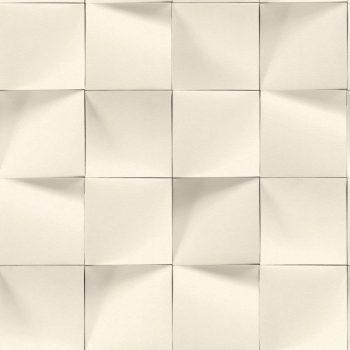 Rasch Modern Art/Make a Change 611359 grafikus 3D minta négyzetek krém szürke tapéta