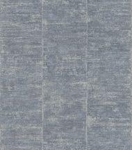 Rasch Linares 617634 Csíkos vízszintes ecsetvonásokkal (optikai kiemelés) csillogó ezüst háttér farmerkék tapéta