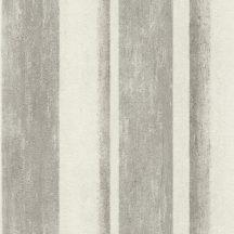 Rasch Linares 617764 Csíkos blokkcsíkos változó szélességű csíkozás plasztikus átmenetek mészfehér szürke szürkésbézs tapéta