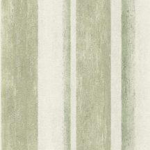Rasch Linares 617771 Csíkos blokkcsíkos változó szélességű csíkozás plasztikus átmenetek mészfehér patinazöld tapéta