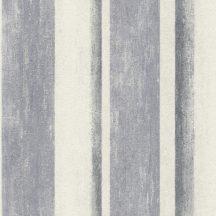 Rasch Linares 617788 Csíkos blokkcsíkos változó szélességű csíkozás plasztikus átmenetek mészfehér farmerkék tapéta