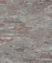 Rasch #tapetenwechsel 625530 málladozó régi táglafal szürke antracit téglavörös tapéta