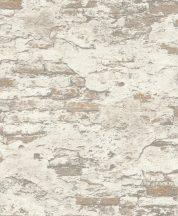 Rasch #tapetenwechsel 625547 málladozó régi táglafal bézs barna krémfehér tapéta