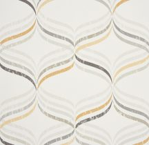 Caselio Vitamine 62841020 Grafikus hullámos dekorminta fehér szürke sárga antracit tapéta