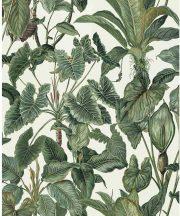 Erismann Paradisio 6303-07  trópusi növények fehér zöld  tapéta
