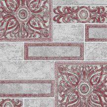 Erismann Arcano 6310-06 Vintage díszes csempeminta szürke piros tapéta
