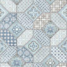 Erismann Imitations 6315-08 natur Bohemia csempemintázat kék fehér szürke barna tapéta