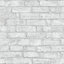 Erismann Imitations 6318-10  natur téglafal 3D világos szürke fehér tapéta