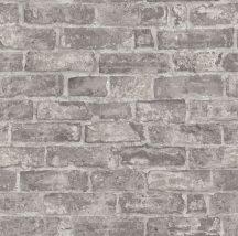 Erismann Imitations 6318-11  natur téglafal 3D sötétszürke szürkésbézs tapéta