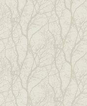 Rasch #tapetenwechsel 633252  natur faágak krémfehér fényes fehér tapéta