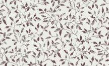 Erismann Vintage 6333-16 natur levélmintázat krémfehér burgundi/lila ezüst tapéta