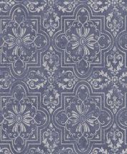 Erismann Vintage 6337-08 keleti díszítőminta kék szürke ezüst  enyhén csillogó tapéta
