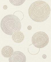 Rasch Sofia 634242 Geometrikus grafikus egyedi körmintázat krém bézs szürke szürkésbézs tapéta