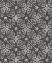 """Rasch Sofia 634341 Grafikus """"csillag"""" minta ezüstfehér ezüst fekete csillogó mintafelület tapéta"""